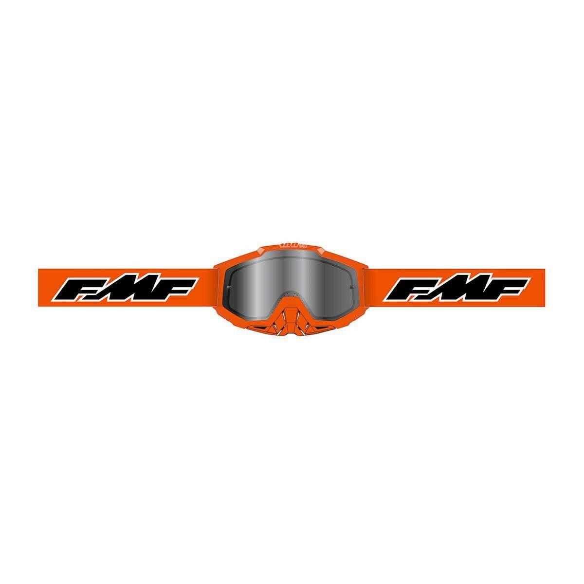 FMF Powerbomb Rocket Gyerek MX Szemüveg (Narancs-Ezüst tükrös)