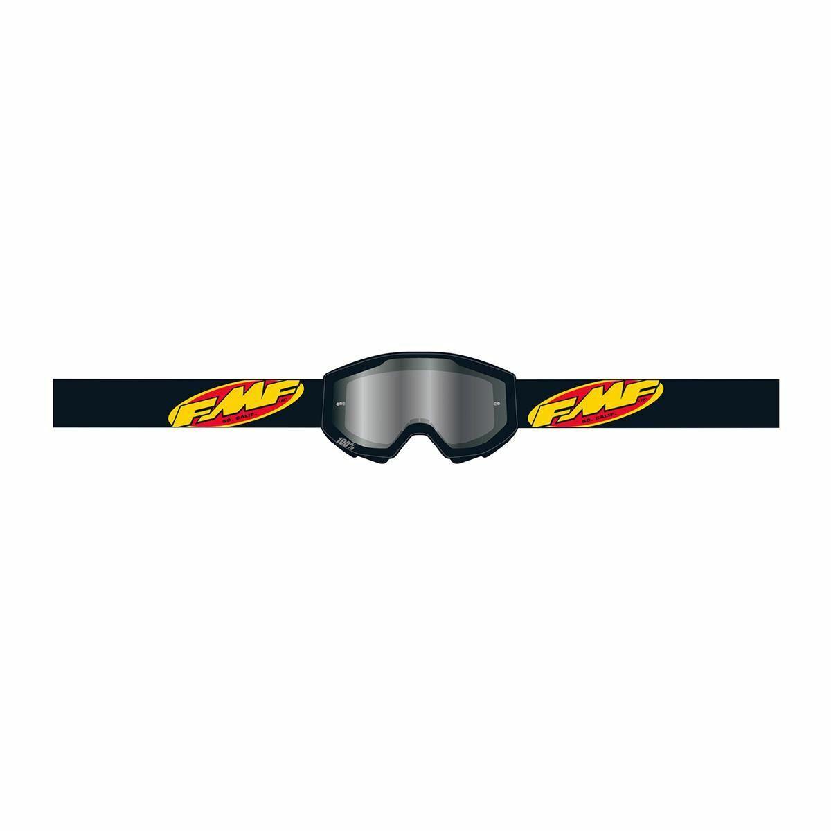 FMF PowerCore Core Gyerek MX Szemüveg (Fekete-Ezüst tükrös)